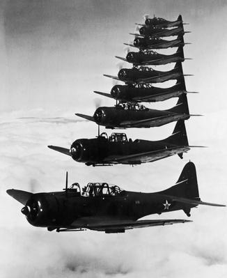 Bombers In Flight | World War II