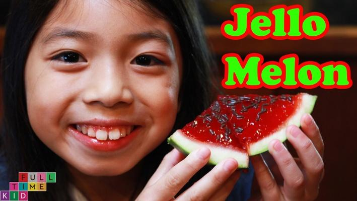 Jello (Gelatin) Watermelon | Full-Time Kid