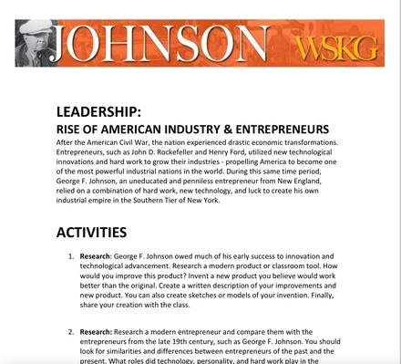 LEADERSHIP: Rise of American Industry and Entrepreneurs Activities