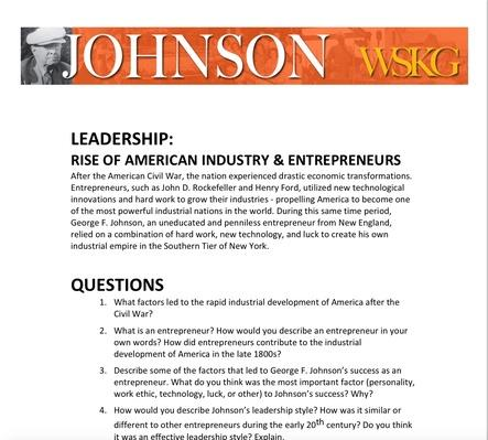 LEADERSHIP: Rise of American Industry and Entrepreneurs Discussion Questions