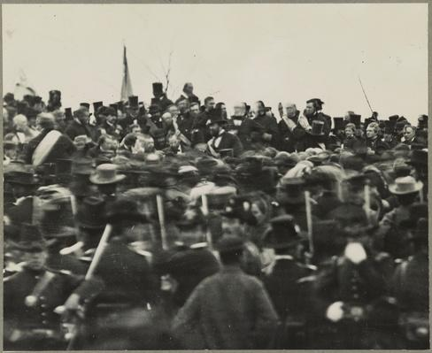 President Lincoln at Gettysburg