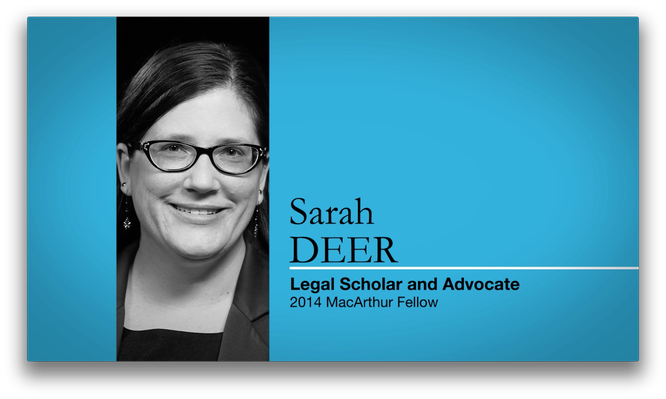 Sarah Deer, Legal Scholar and Advocate | MacArthur Fellows Program
