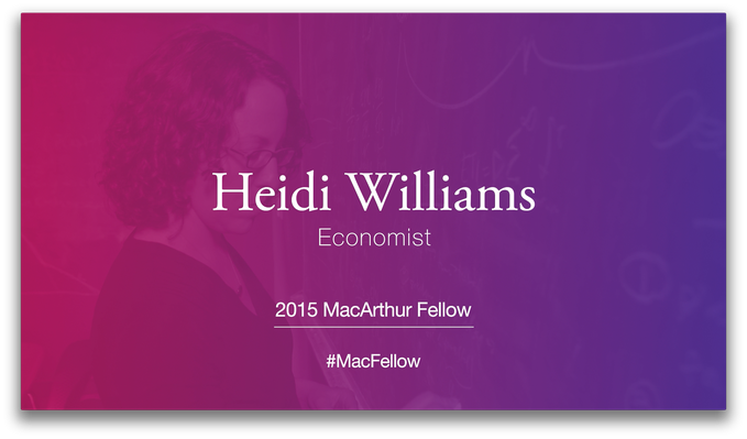 Heidi Williams, Economist | MacArthur Fellows Program