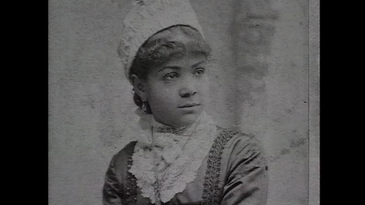Black and white photo of Maggie Lena Walker as a young girl.