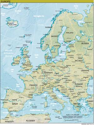 Map of Europe - PDF