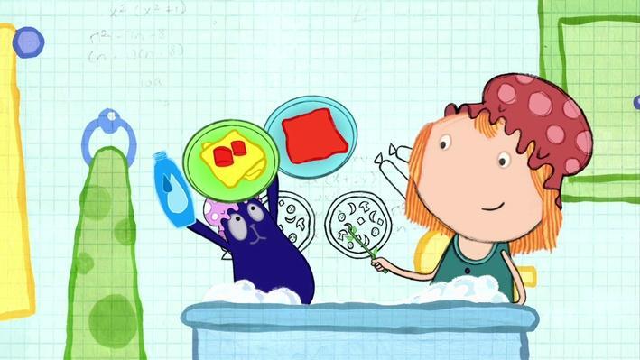 Math in the Bath: Peg's Pizza Place  |  Peg + Cat