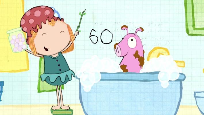 Math in the Bath: Sloppy Pig - Peg + Cat | PBS KIDS Lab