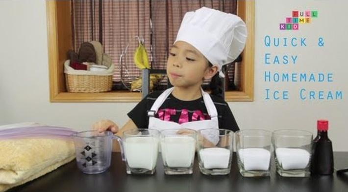 Easy Homemade Ice Cream | Full-Time Kid