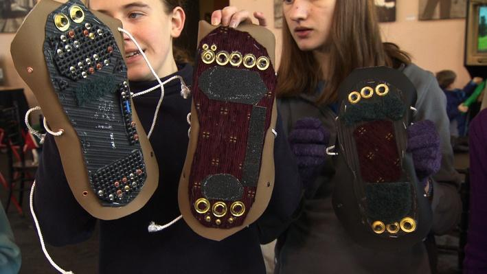 SciGirls | Mother Nature's Shoes 05: Share and Test Prototypes