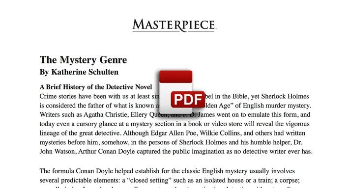 The Mystery Genre PDF