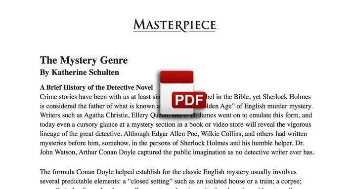 The Mystery Genre PDF