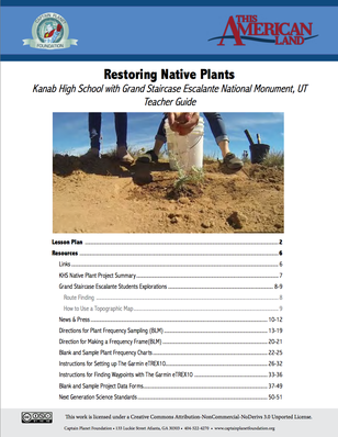 Teacher's Guide: Restoring Native Plants | This American Land
