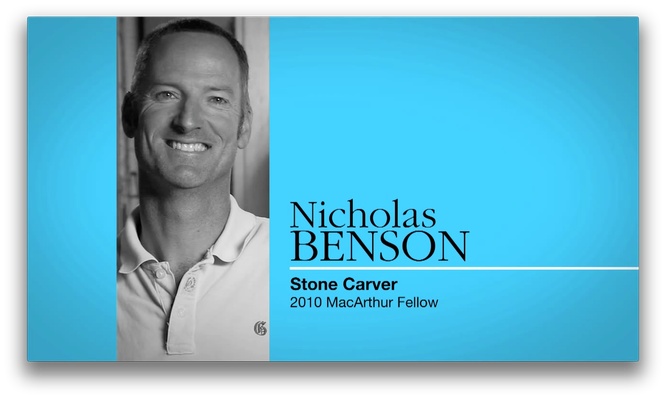Nicholas Benson, Stone Carver | MacArthur Fellows Program