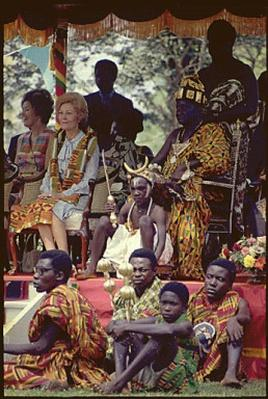 First Lady Pat Nixon attends a ceremony in Ghana