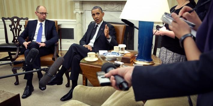 Ukraine's Interim Prime Minister Appeals for Aid During U.S. Visit
