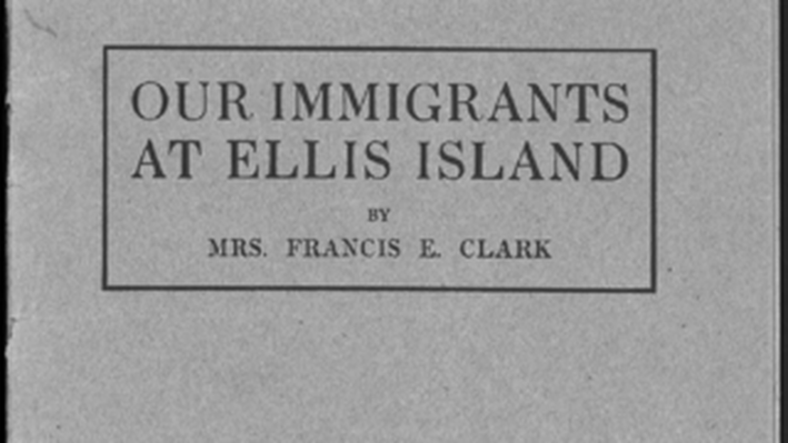Our Immigrants at Ellis Island