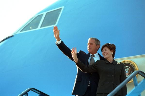 Air Force One: President Bush and the First Lady