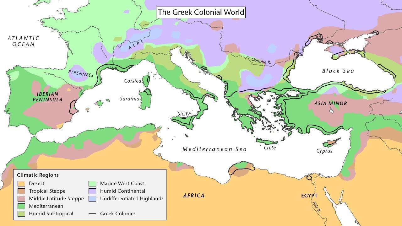 Picture of: The Greeks Colonize The Mediterranean Pbs Learningmedia
