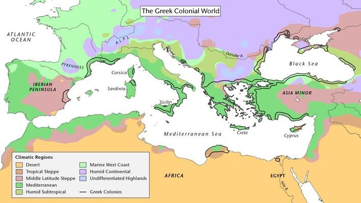 Greece and Its Colonies in the Sixth Century
