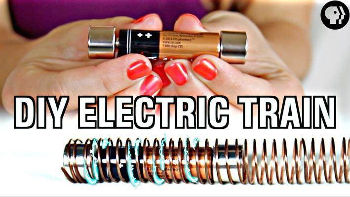 World's Easiest DIY Electric Train | Physics Girl