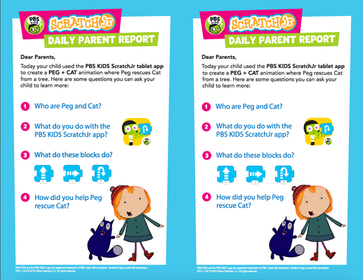 Parent Handout - PEG + CAT | PBS KIDS ScratchJr - pdf