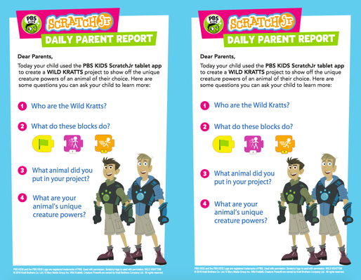 Parent Handout - WILD KRATTS | PBS KIDS ScratchJr - pdf