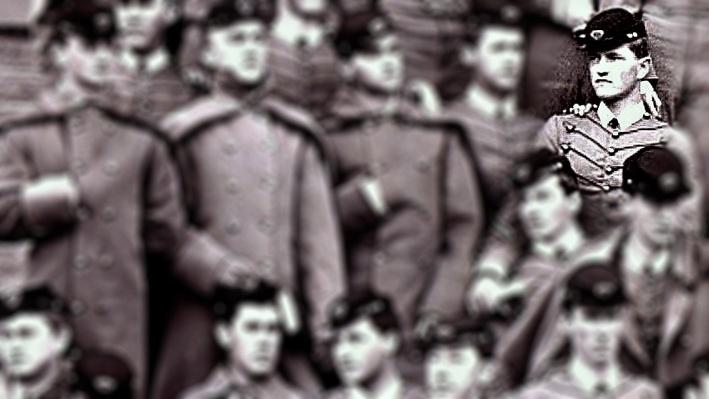 Photograph of John Pershing and classmates at West Point Military Academy