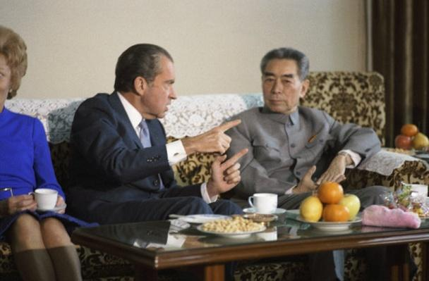 President Richard Nixon and Premier Chou En-lai