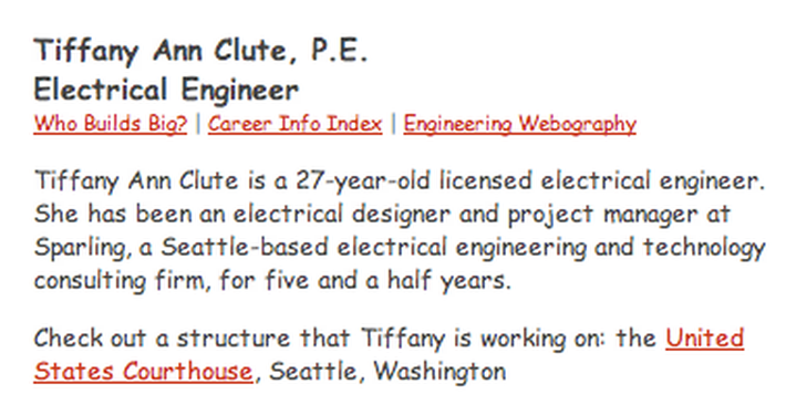 Building Big | Electrical Engineer Interview: Tiffany Ann Clute