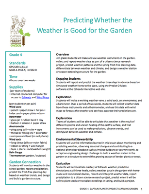 Predicting Whether the Weather is Good for the Garden | Project Learning Garden