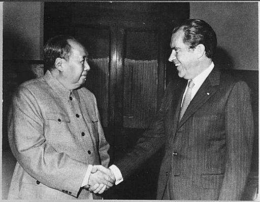 President Nixon meets with China's Communist Party Leader, Mao Tse-Tung