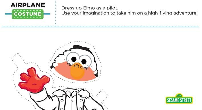 Elmo the Musical: Airplane Costume Printable | Sesame Street