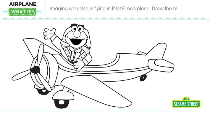 "Elmo the Musical: Airplane ""What If"" Printable 