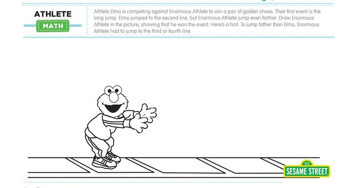 Elmo the Musical: Athlete Math Printable | Sesame Street