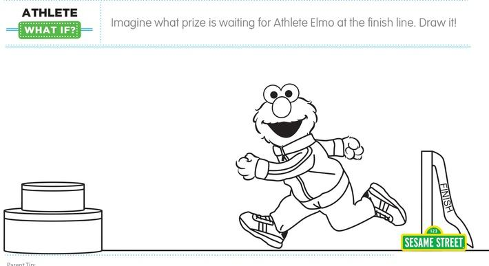 "Elmo the Musical: Athlete ""What If"" Printable 