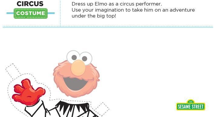 Elmo the Musical: Circus Costume Printable | Sesame Street
