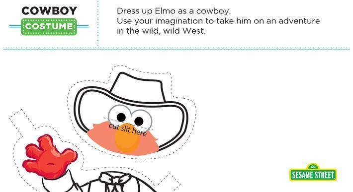 Elmo the Musical: Cowboy Costume Printable | Sesame Street