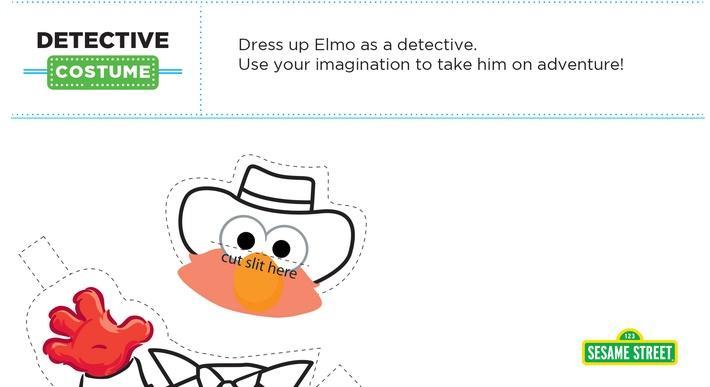 Elmo the Musical: Detective Costume Printable | Sesame Street