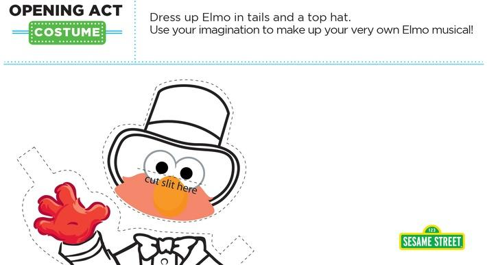 Elmo the Musical: Opening Act Costume Printable | Sesame Street