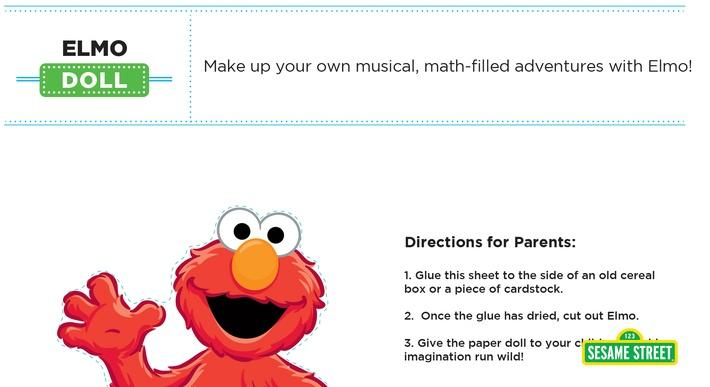 Elmo the Musical: Paper Doll Printable | Sesame Street