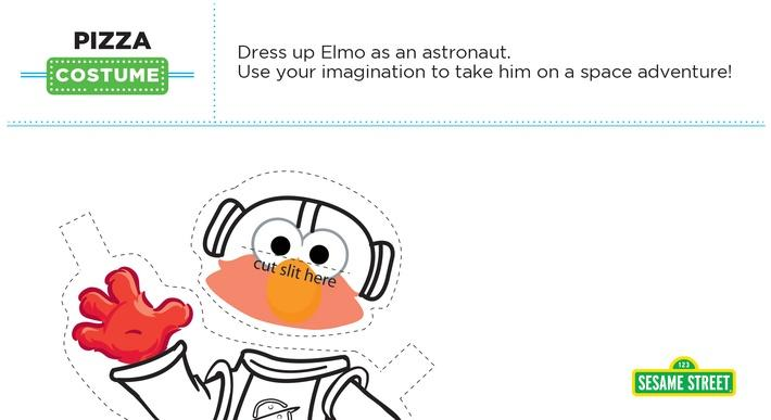 Elmo the Musical: Pizza Costume Printable | Sesame Street