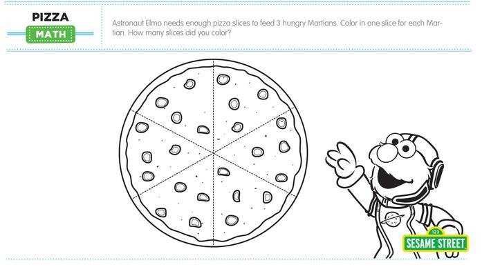 Elmo the Musical: Pizza Math Printable | Sesame Street