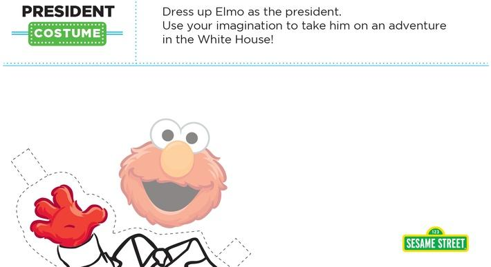 Elmo the Musical: President Costume Printable | Sesame Street