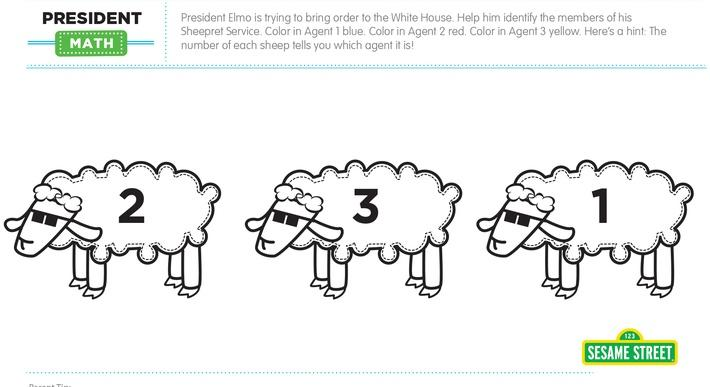 Elmo the Musical: President Math Printable | Sesame Street