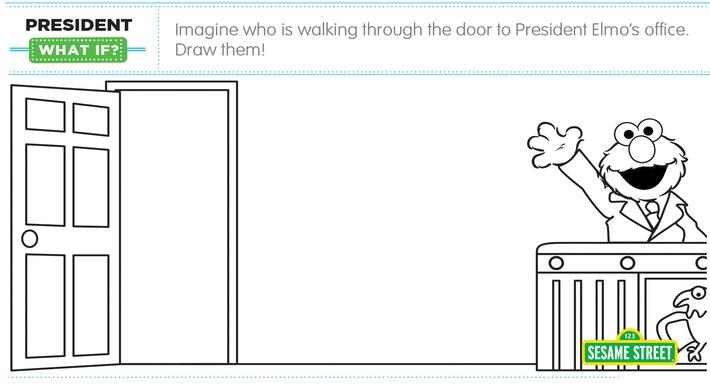 "Elmo the Musical: President ""What If"" Printable 