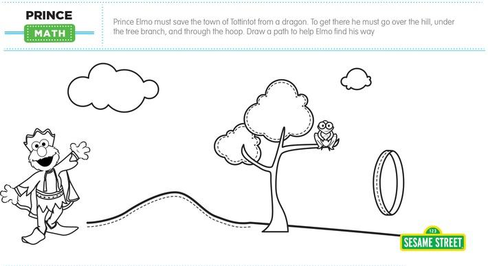 Elmo the Musical: Prince Math Printable | Sesame Street