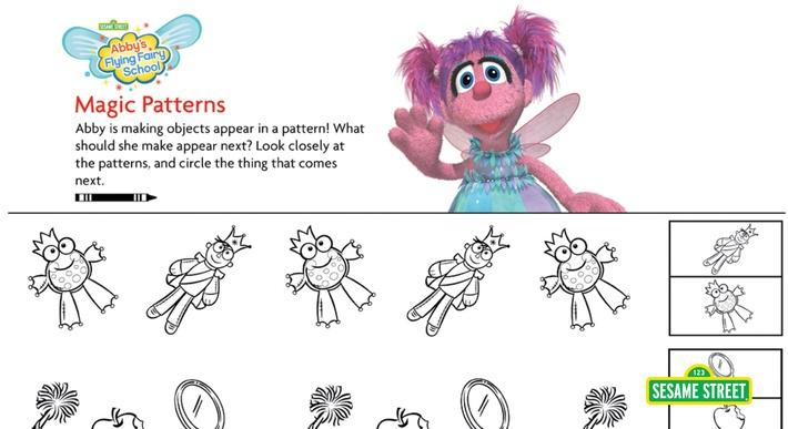 Abby's Flying Fairy School Magic Patterns Printable | Sesame Street