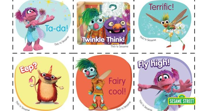 Abby's Flying Fairy School Stickers Printable | Sesame Street