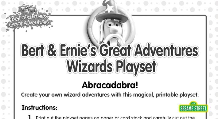 Bert & Ernie's Great Adventures Wizards Playset | Sesame Street