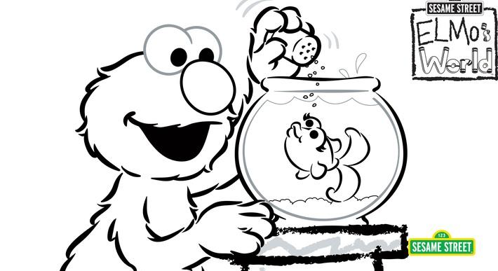 Elmos world coloring page printable sesame street